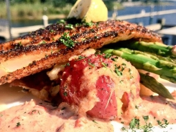Time to eat! Come have lunch with us on this GORGEOUS day in #downtownpensacola! Today's lunch special is: Blackened snapper over Cajun potatoes and grilled asparagus; finished with a piquant remoulade!  #fishhousepensacola #pensacola #lunchspecial #upsideofflorida #loveFL